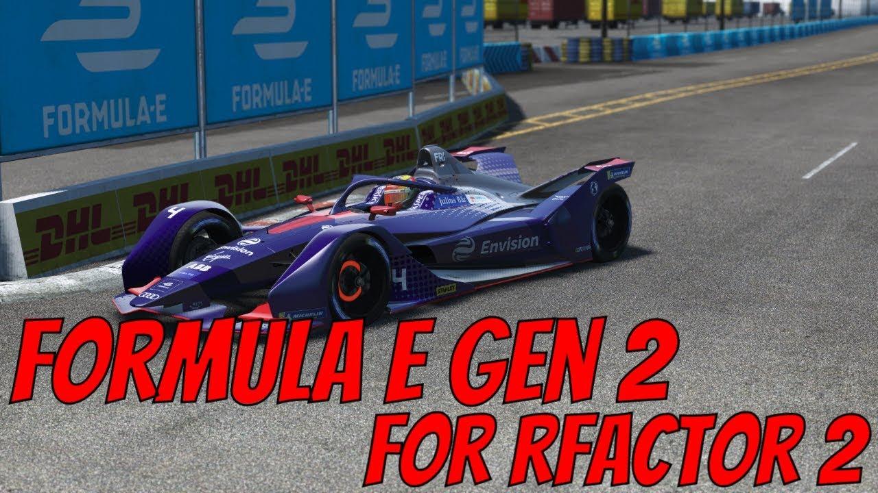 rFactor 2 Formula E Gen 2 (2019) DLC Car Drive and Review