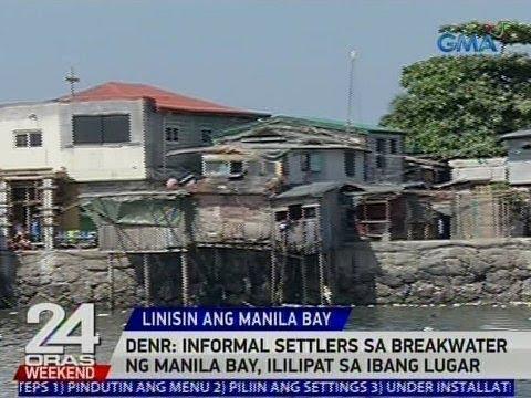 24 Oras: DENR: Informal settlers sa breakwater ng Manila Bay, ililipat sa ibang lugar