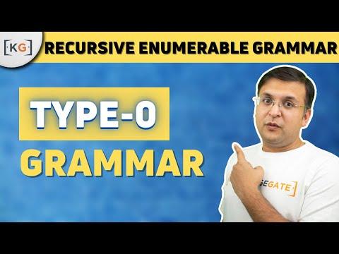 Type 0 Grammar Recursively enumerable grammar Phase structured grammar  unrestricted Grammar part 76