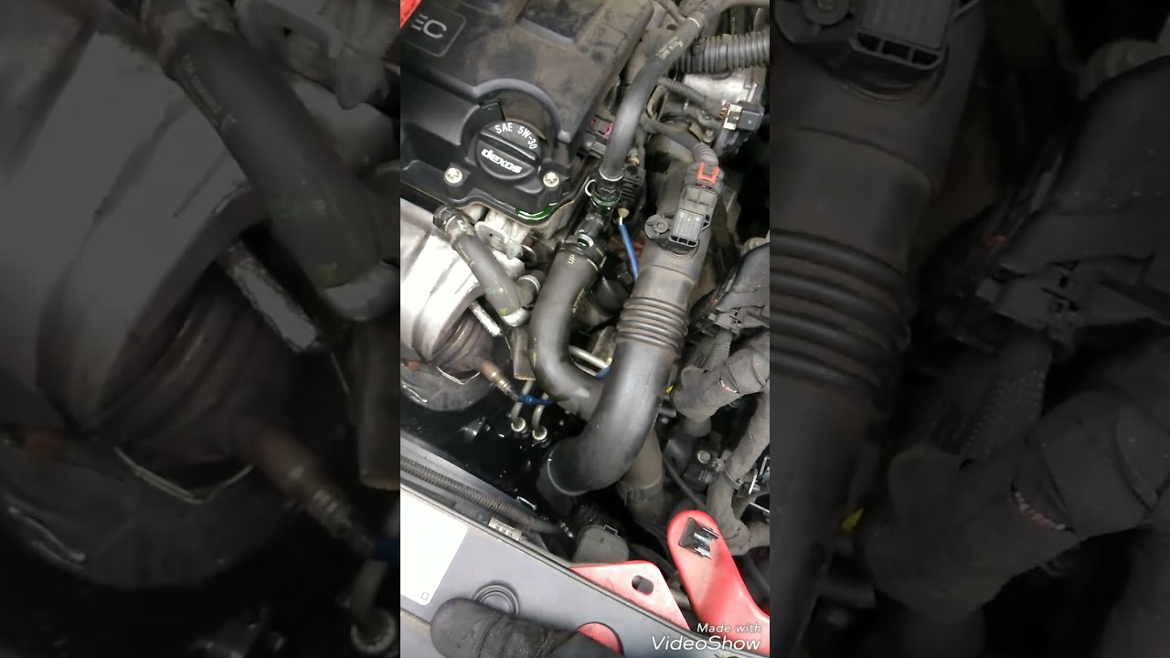 2014 chevy cruze water outlet replacement [ 1280 x 720 Pixel ]