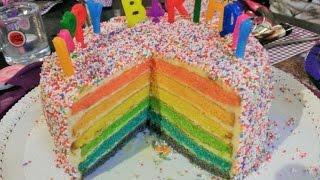 Regenbogen Torte Rainbow cake