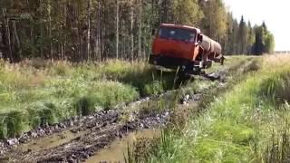 ПО БЕЗДОРОЖЬЮ СЕВЕРА РОССИИ НА ТС КАМАЗ Russian mega truck compilation 2016, new