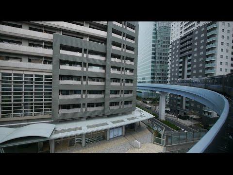 ゆりかもめ 東京臨海新交通臨海線  超広角車窓 進行左側 新橋~豊洲