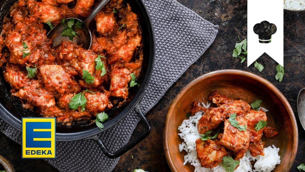 Chicken Tikka Masala Selber Machen I Leckeres Hähnchen Curry Mit