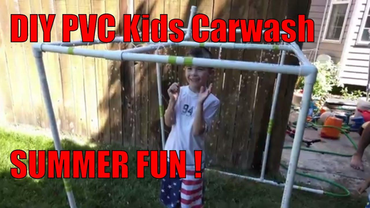 diy pvc pipe kids splash pad tutorial diy summer projects youtube