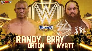 WWE 2K17 - Wrestlemania 33 Randy Orton vs Bray Wyatt | Match Highlights