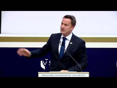 SMU PDLS: Mr Xavier Bettel | Lecture on 15 Nov 2016