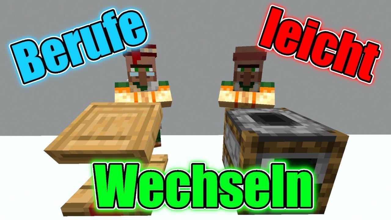 Minecraft Dorfbewohner Beruf WECHSELN  Tutorial