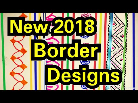 Border Designs On Paper | How To Decorate Project File ? Awesome Border Ideas 2018 | Project Designs