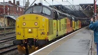 Colas Rail classes 37175 & 37219 at Crewe 10/06/2017