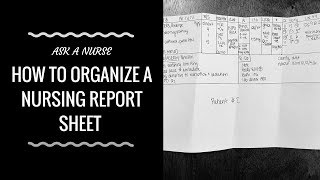 Gambar cover How to Organize a Nursing Report Sheet