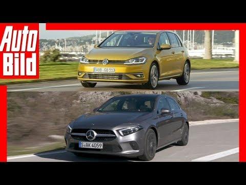 Mercedes A-Klasse gegen VW Golf (2018) Vergleich/Test/Review