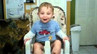 """Baby laughing at """"Baby Laughing Hysterically at Ripping Paper """""""