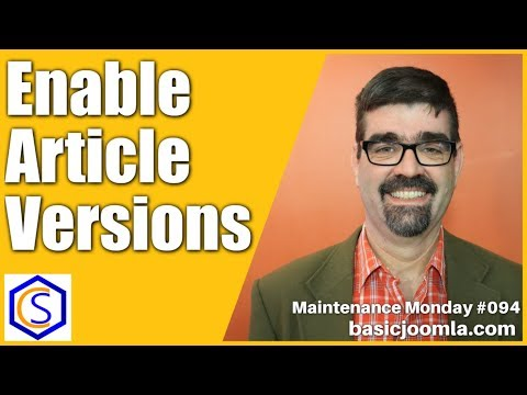 Enable Article Versions in your Joomla Site 🛠 Maintenance Monday Live Stream #094 thumbnail