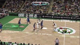 NBA 2K10 (Xbox 360) Gameplay: New York Knicks vs. Boston Celtics PART ONE