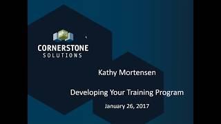Create the Best Training Program Webinar 1-26-17