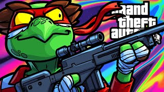 GTA5 Funny Moments - Teenage Mutant Sniping Turtles!