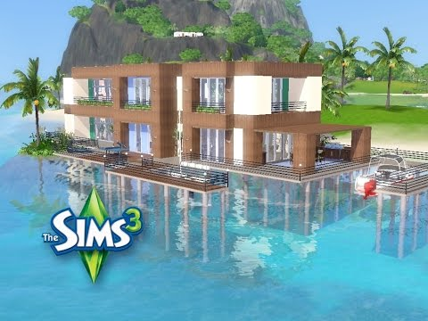 Traumhaus am meer mit pool  Sims 3 - Haus bauen - Let's build - Traumhaus auf dem Meer - YouTube