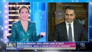 Luigi Di Maio Intervistato A Canale 5 - 15/03/2020