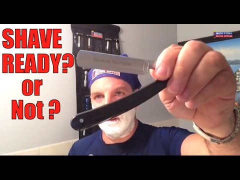 New Straight Razor: Shave Ready or Not?