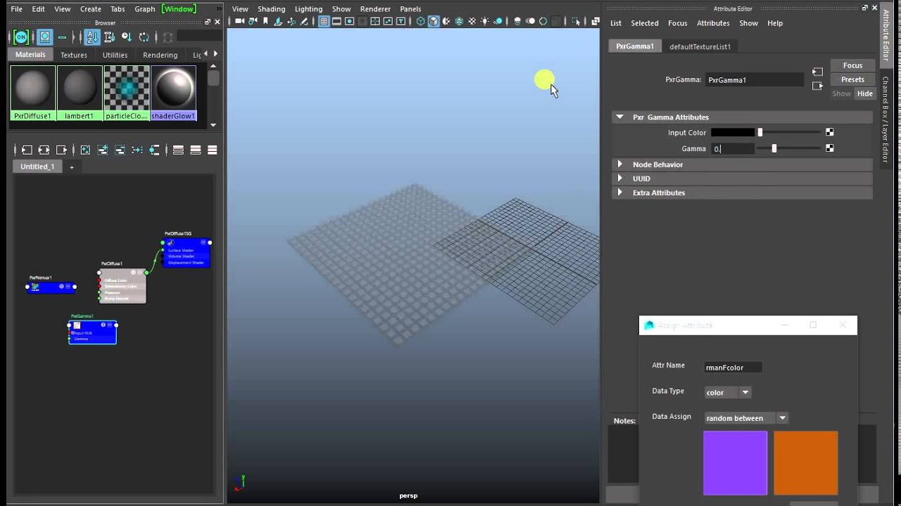Maya tool for assigning attributes | CG Artist | Xinran Yu