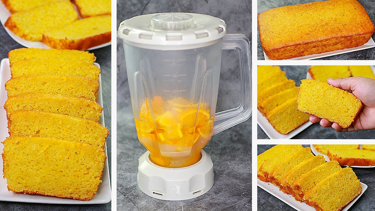 Orange Cake in Blender | Orange Tea Time Cake Recipe Without Oven | Yummy
