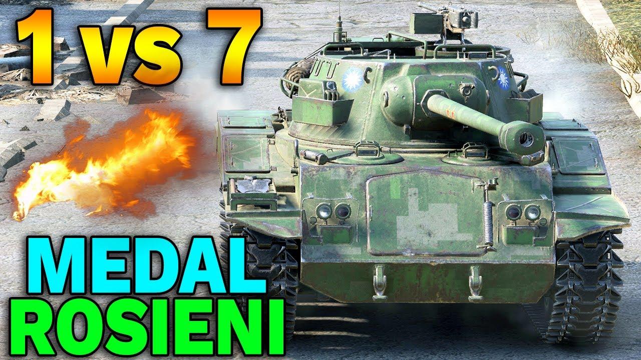 1 VS 7 i Medal Rosieni – World of Tanks