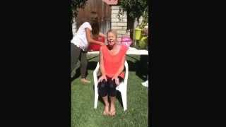 ALS Ice Bucket Challenge. 7 buckets for 7 family members who
