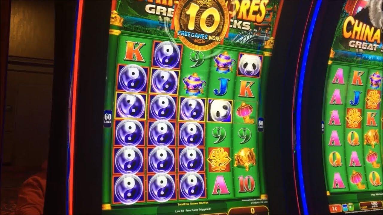 Big Win China Shores Great Stacks Slot Machine Bonus 350 Spins