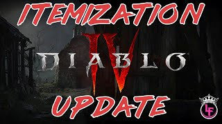 Diablo 4 Itemization Update