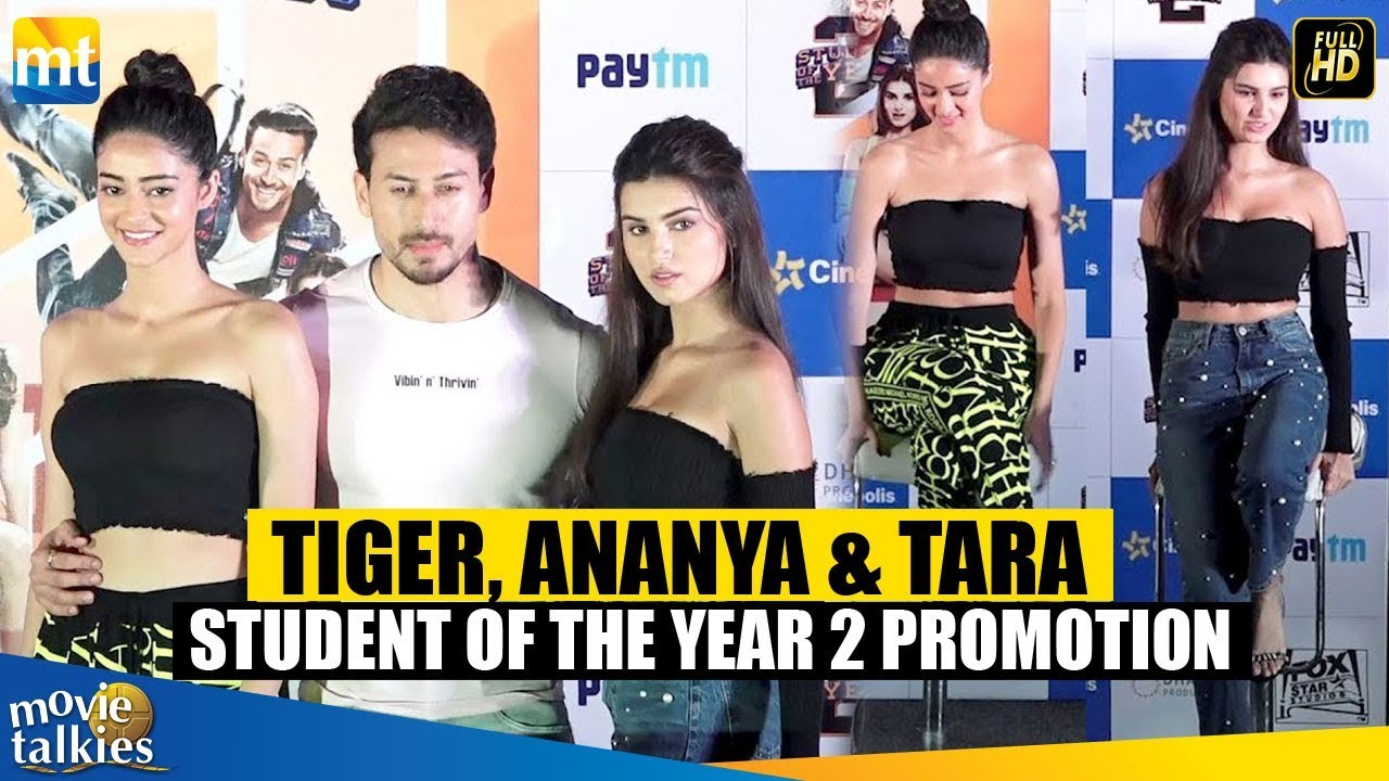 Student Of The Year 2 Movie Promotion With Tiger Shroff Tara Sutaria Ananya Panday Youtube