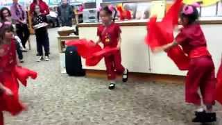 Chinese Red Ribbon Dance