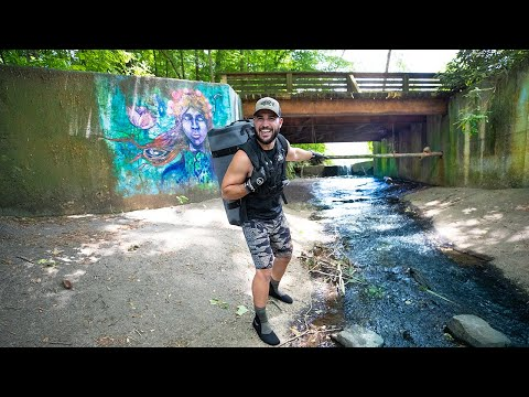 FOUND Urban Treasure Hunting DEEP In Major City!!! (graffiti walls)