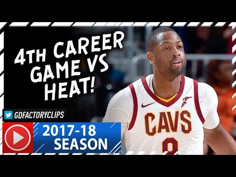 Dwyane Wade Full Highlights vs Heat (2017.11.28) - 17 Pts, 4th Career Game vs Heat!