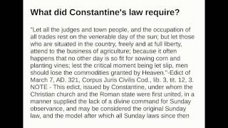 What did Constantine
