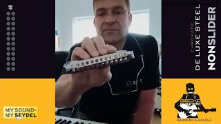 GECKO-holder: SEYDEL's NONSLIDER Chromatic can be played handsfree!!
