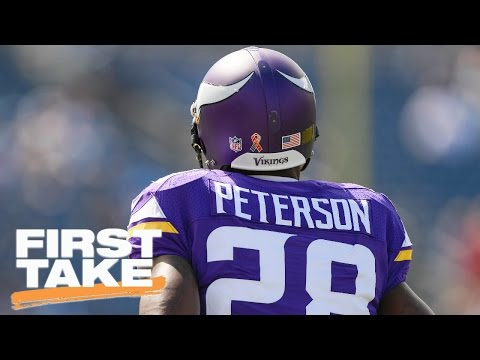 Should The Saints Sign Adrian Peterson? | First Take | April 7, 2017