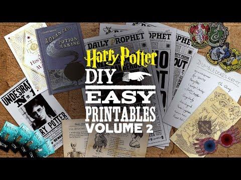 DIY Harry Potter Printables Vol. 2 - MUGGLE MAGIC