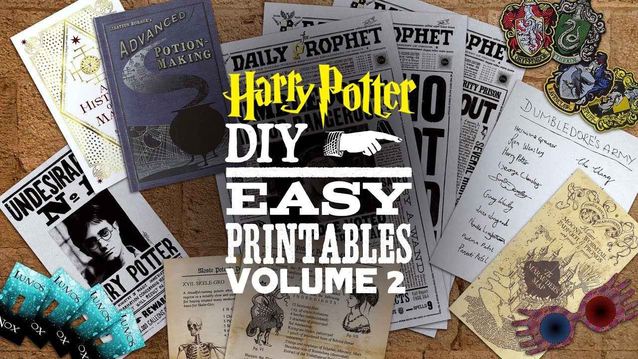 Diy Harry Potter Printables Vol 2 Youtube