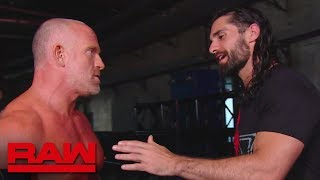 Seth Rollins dissuades Eric Young: Raw, June 17, 2019