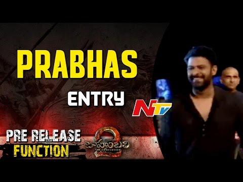 Prabhas Entry @Baahubali 2 Pre Release Function || Rana  Daggubati || SS Rajamouli