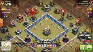 COC Loon attack and town hall 12 base smashed