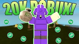 I WON 20K ROBUX ON ROBLOX BOOGA BOOGA! (1 Kill = 1000 ROBUX)