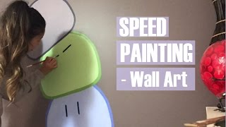 Speed Painting Wall Art // Julie Antte