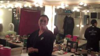 Backstage at PHANTOM at the Pantages with Paloma Garcia Lee
