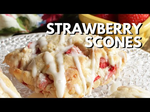 Strawberry Scone Recipe | Small Batch | OneDishKitchen.com