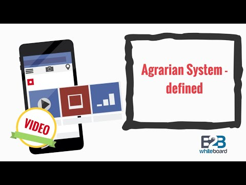 Agrarian System - defined