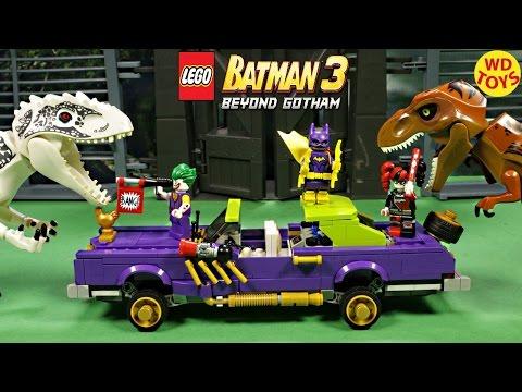 Lego Batman Movie Joker Notorious Lowrider 70906 Vs Indominus Rex Jurassic World Unboxing Animated