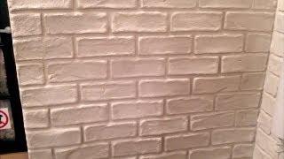jak zrobić imitację cegieł na ścianie za pomocą goldbandu DIY ( faux brick wall)