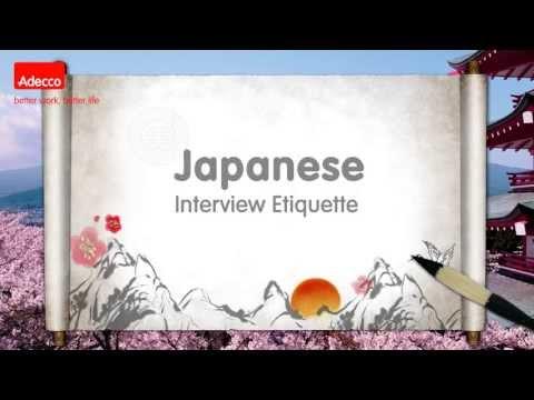 Japanese Interview Etiquette - เคล็ดลับการสัมภาษณ์งานกับบริษัทญี่ปุ่น